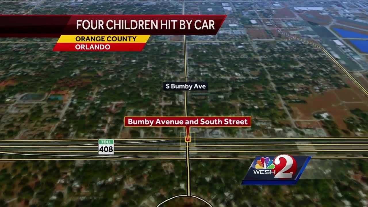 4 children struck by vehicle in Orlando, police say