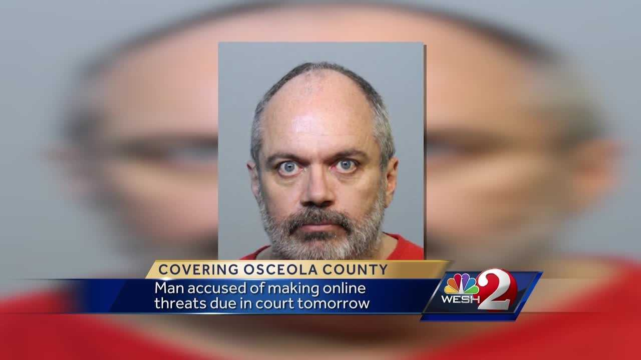 The man charged with threatening a Labor Day Pulse-style attack on a South Florida community is scheduled for an Orlando court appearance Tuesday.
