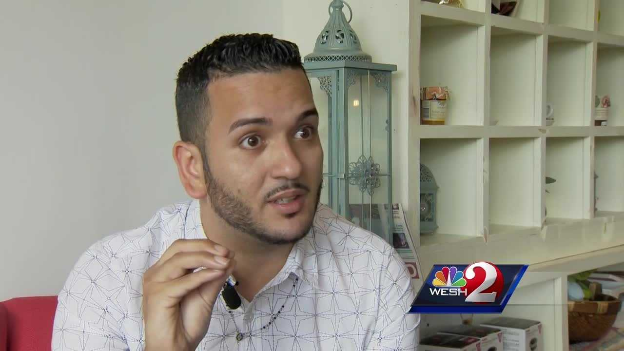 Tony Marrero, a Pulse survivor who was shot in his back and arm is back in Orlando to share his new message of hope, and reacting to a surprise meeting with music superstar Katy Perry.