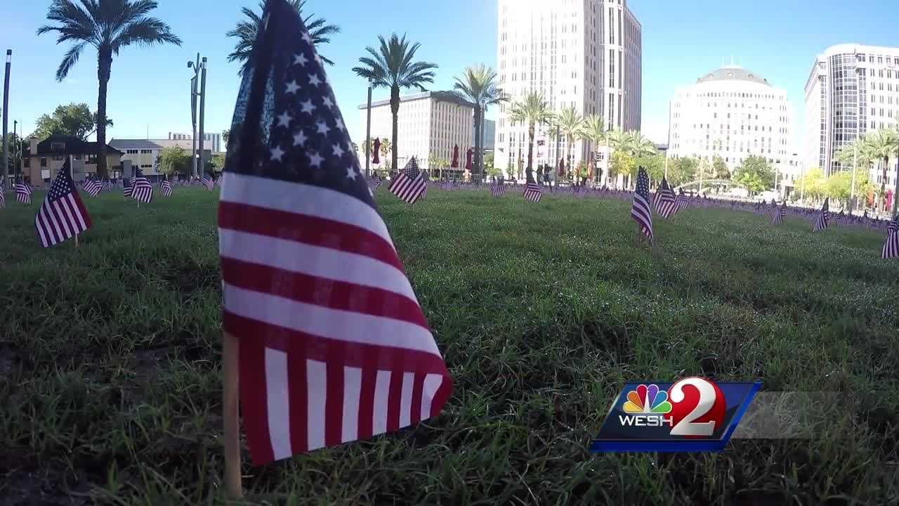 Orlando's first responders marked the 15th anniversary of 9/11 Saturday with a special tribute.