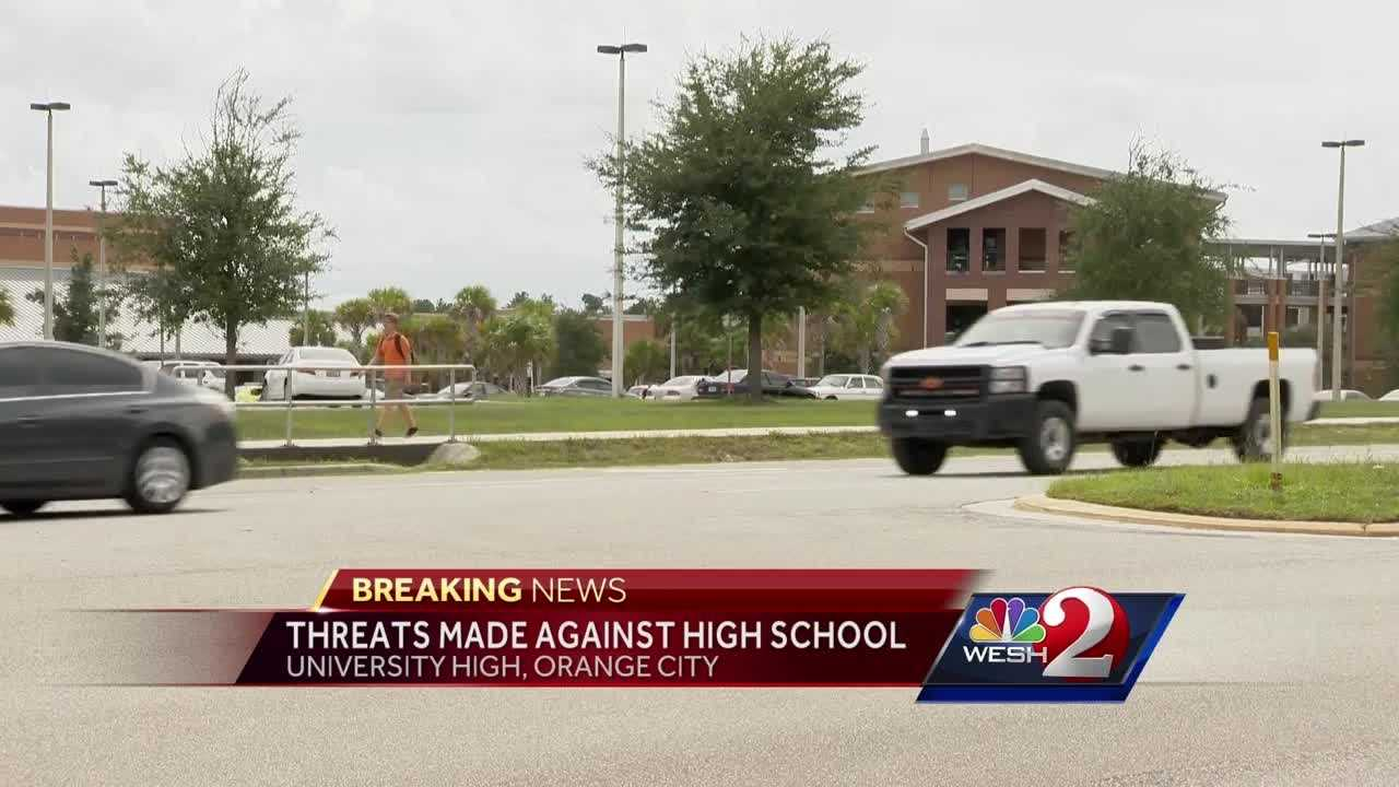 University High School in Orange City was temporarily locked down after at least two threats Monday. Claire Metz reports.