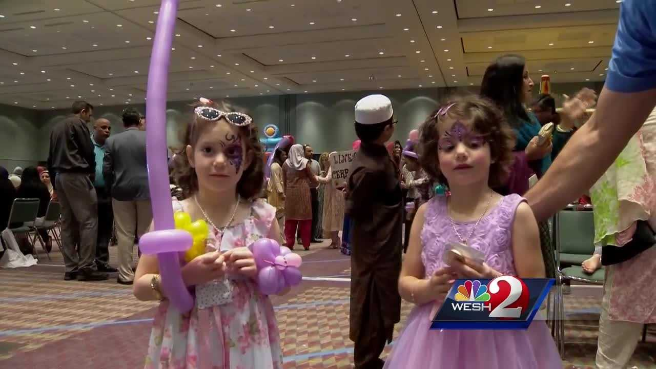 Increased security was necessary Monday as nearly 2,500 people celebrated Eid al-Adha with an array of activities at the Orange County Convention Center. Eid al-Adha is the second largest holiday for Muslims.