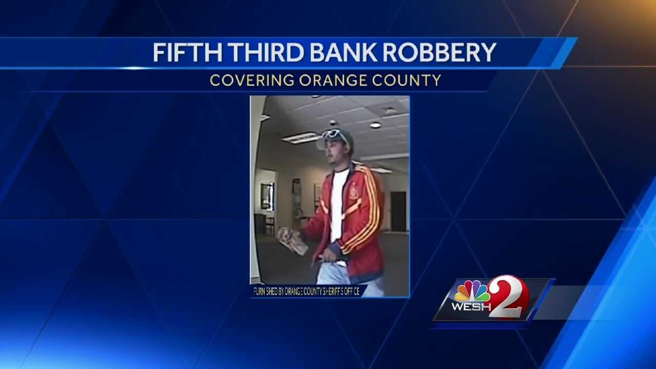 Orange County deputies are searching for a bank robber, armed with a black semi-automatic handgun, who got away with cash. Gail Paschall-Brown reports.