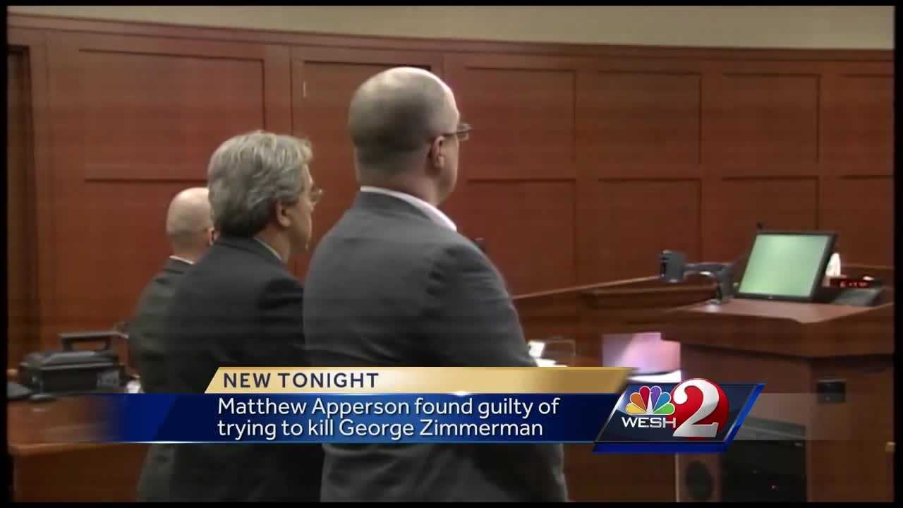 Apperson guilty on all charges in George Zimmerman shooting