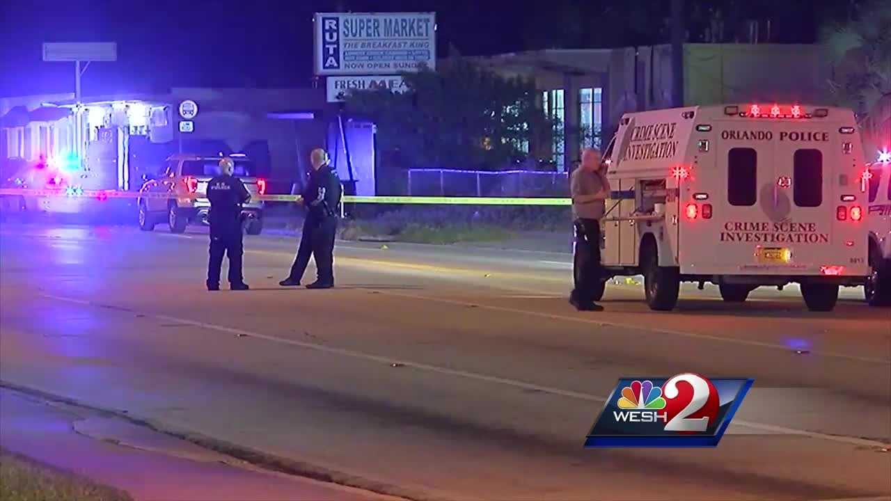 Investigators are searching for the gunman or gunmen who opened fire outside of an Orlando pool hall Saturday.