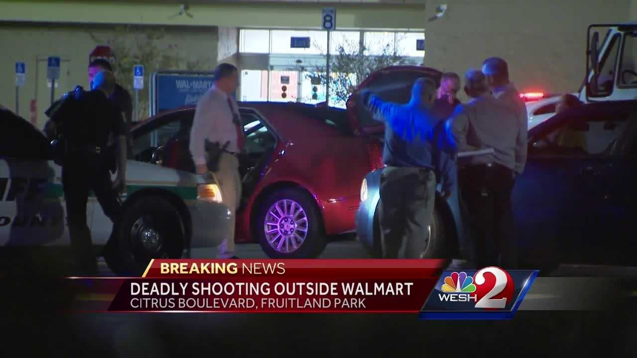 A man was shot and killed in the parking lot of a Walmart in Lake County.
