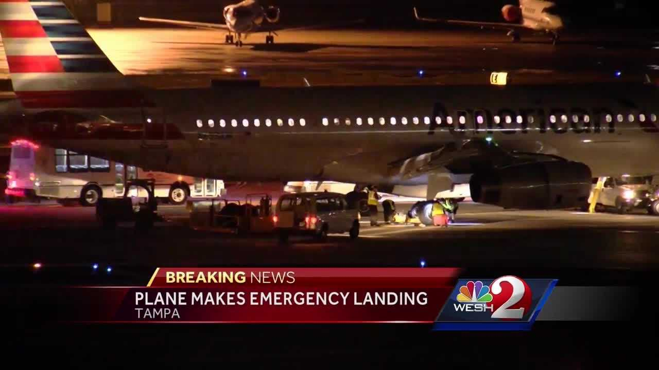 A reporter on the plane says part of the landing gear failed to fully engage.