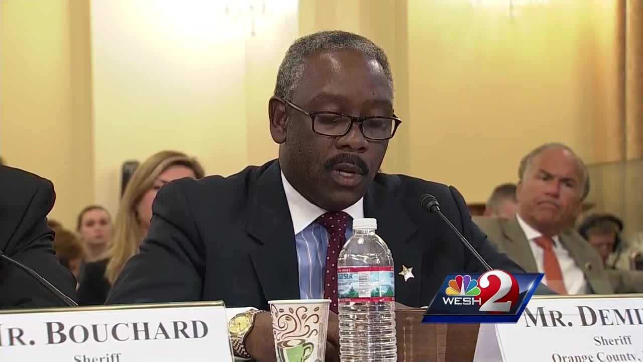 Orange County Sheriff Jerry Demings was in Washington D.C. to testify at a Homeland Security Committee hearing on terrorism.