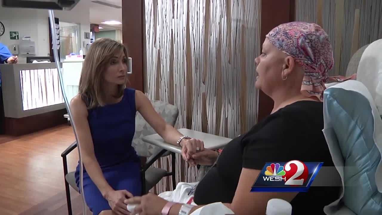 Thursday afternoon, Olympic gold-medalist Shannon Miller visited with cancer patients at Florida Hospital. Amanda Crawford has the story.
