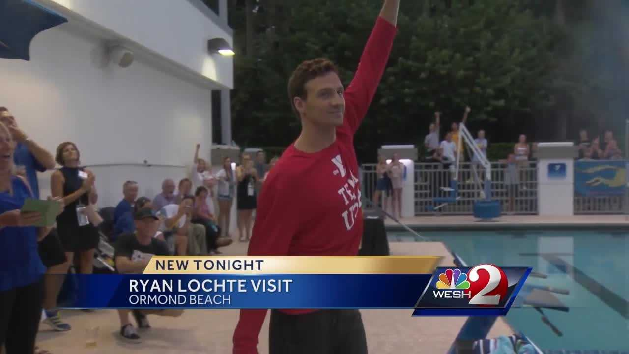 Ryan Lochte, one of the best swimmers on the planet, returned home to a hero's welcome. Matt Grant reports.