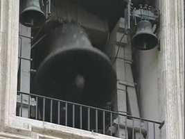 Soon after, Vatican bells start ringing, a sign that a new pope has been selected.
