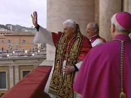 When his remarks were over, Ratzinger went back inside, concluding one of the fastest papal conclaves of the past century.
