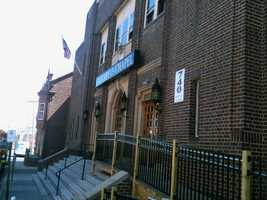 This is the front of the church building.