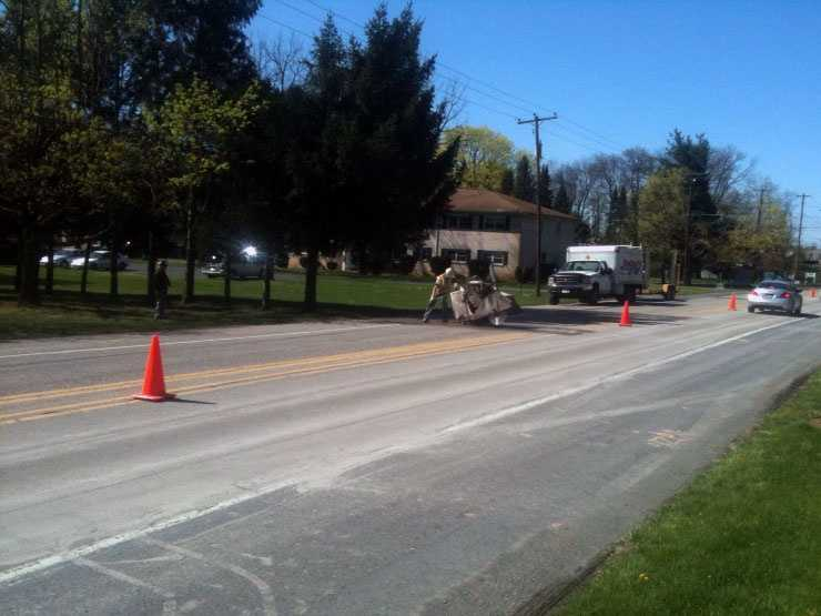 A sewer line extension project in Hampden Township, Cumberland County, could affect traffic.