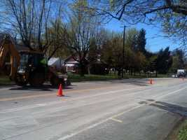 The work, which started Monday, is on Trindle Road from Sporting Hill Road to the Mechanicsburg Borough line.