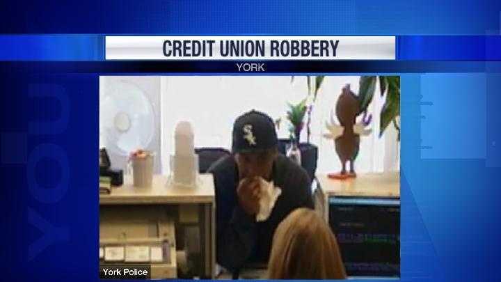 York bank robbery suspect