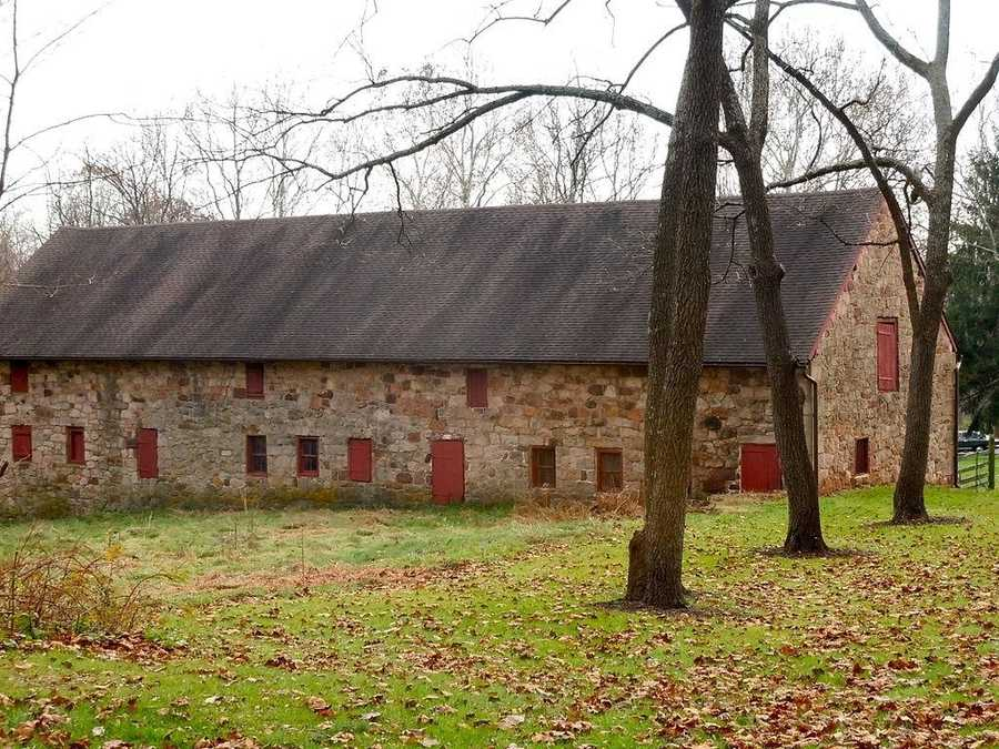 The stone house was built by William Stiegel and Robert Coleman, co-owners of an iron furnace that manufactured material during the American Revolution.