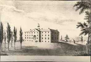 Completed in 1822, Old West was the original building of Dickinson College. It now houses the presidential and other administrative offices, and houses various distinguished speakers, cultural symposiums, and Sunday night mass.