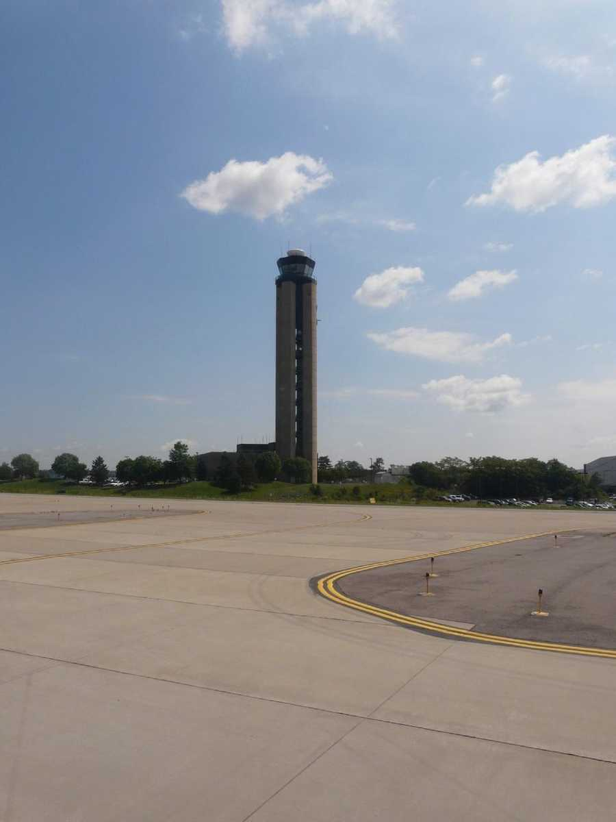 …Pittsburgh International Airport (shown) and St. Peter and Paul Catholic Church.