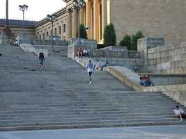 …and the infamous steps of the Philadelphia Museum of Art. The steps were actually featured in all of the Rocky films.