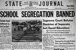 6. Brown v. Board of Education of Topeka (1954): Public schools attended by white children denied admission of black children, citing laws permitting segregation according to race. The schools approached equality through buildings, curricula, qualifications, and teacher salaries.