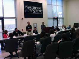 Twelve professionals talked about their career with students at Penn State York.