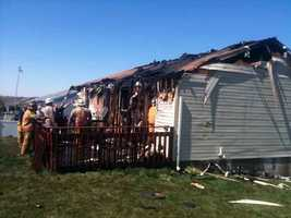 This home on Treeline Drive in Millcreek Township, Lebanon County, was destroyed by fire Friday.