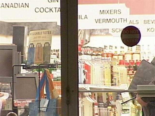 A man was spotted in the back of the store on Columbia Avenue with a black plastic bag and green money bag before taking off, police said. No weapon was shown and the clerk was not injured.