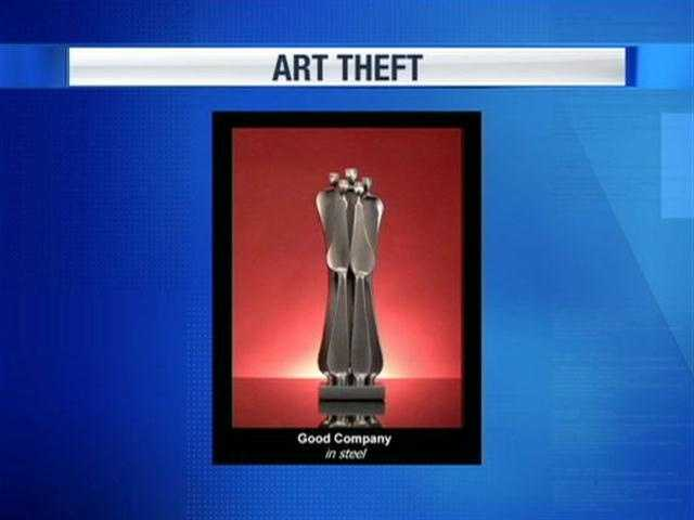 Harrisburg police want to find the thief who stole $30,000 worth of art from a warehouse on Cumberland Street. The stolen statues are similar to those pictured.