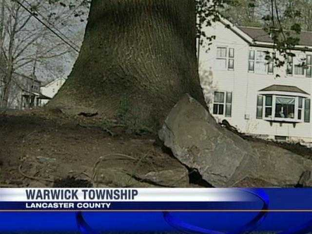 A Warwick Township, Lancaster County, family had quite a surprise when a car crashed into their home Wednesday.