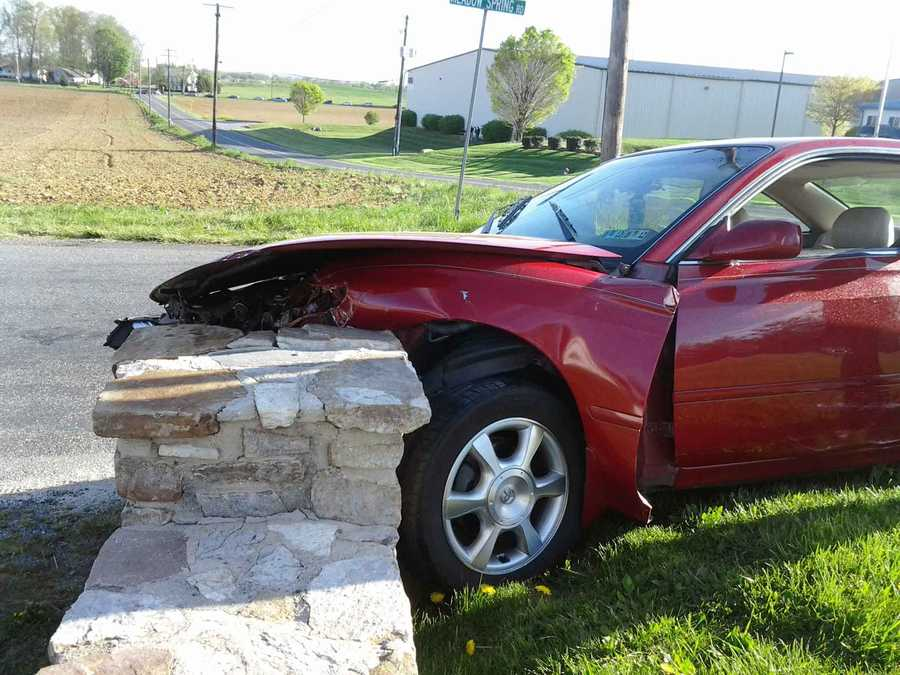 A 17-year-old girl suffered a head injury in a West Hempfield Township, Lancaster County, crash involving two cars and a van on Tuesday morning.