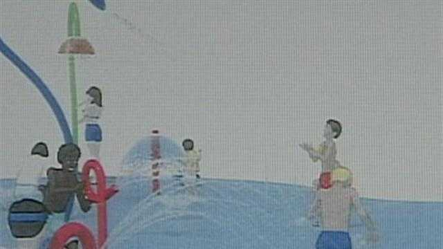 This is a rendering of what the splash park is expected to look like.