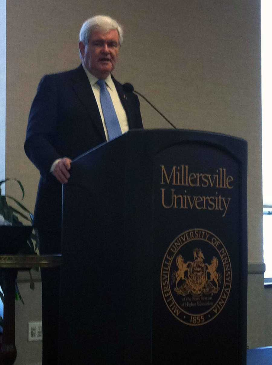 He talked a lot about the natural gas drilling industry in Pennsylvania during his remarks at Millersville University.