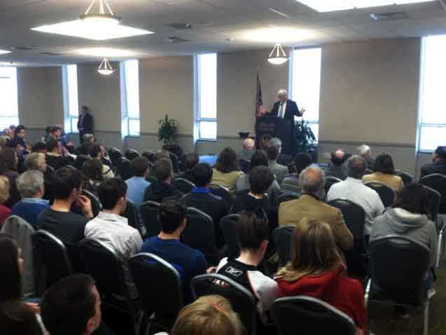 Republican presidential hopeful Newt Gingrich continued his campaign in Lancaster County Wednesday.