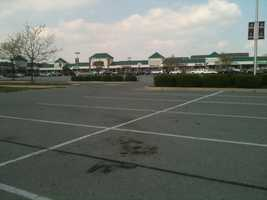 This Windsor Township, York County, shopping center parking lot was the scene of a public suicide Friday morning.
