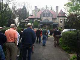 Hundreds attended an auction of contents at the Watt Mansion in Lancaster Township in April 2012.
