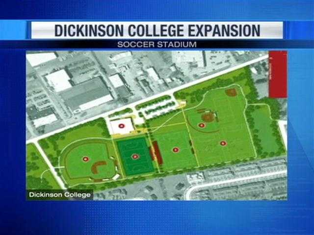 Dickinson College trustees have given the green light to the biggest expansion in the school's history. Five construction projects are planned, including a new soccer stadium, which is scheduled to be complete this fall.