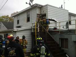 The laundry room fire also damaged an unoccupied unit above it.