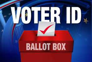 Voters were asked to show a photo ID. But if they didn't have one, they were still allowed to vote. The most common forms of acceptable ID are a driver's license, non-driver's license photo ID, passport, military ID or college ID.