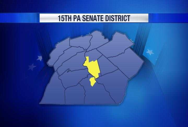 The 15th state House district includes Dauphin and York counties.