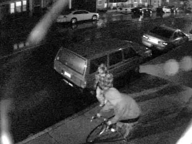 Lancaster police have released surveillance photos of two people who may be connected to a rash of tire slashings.