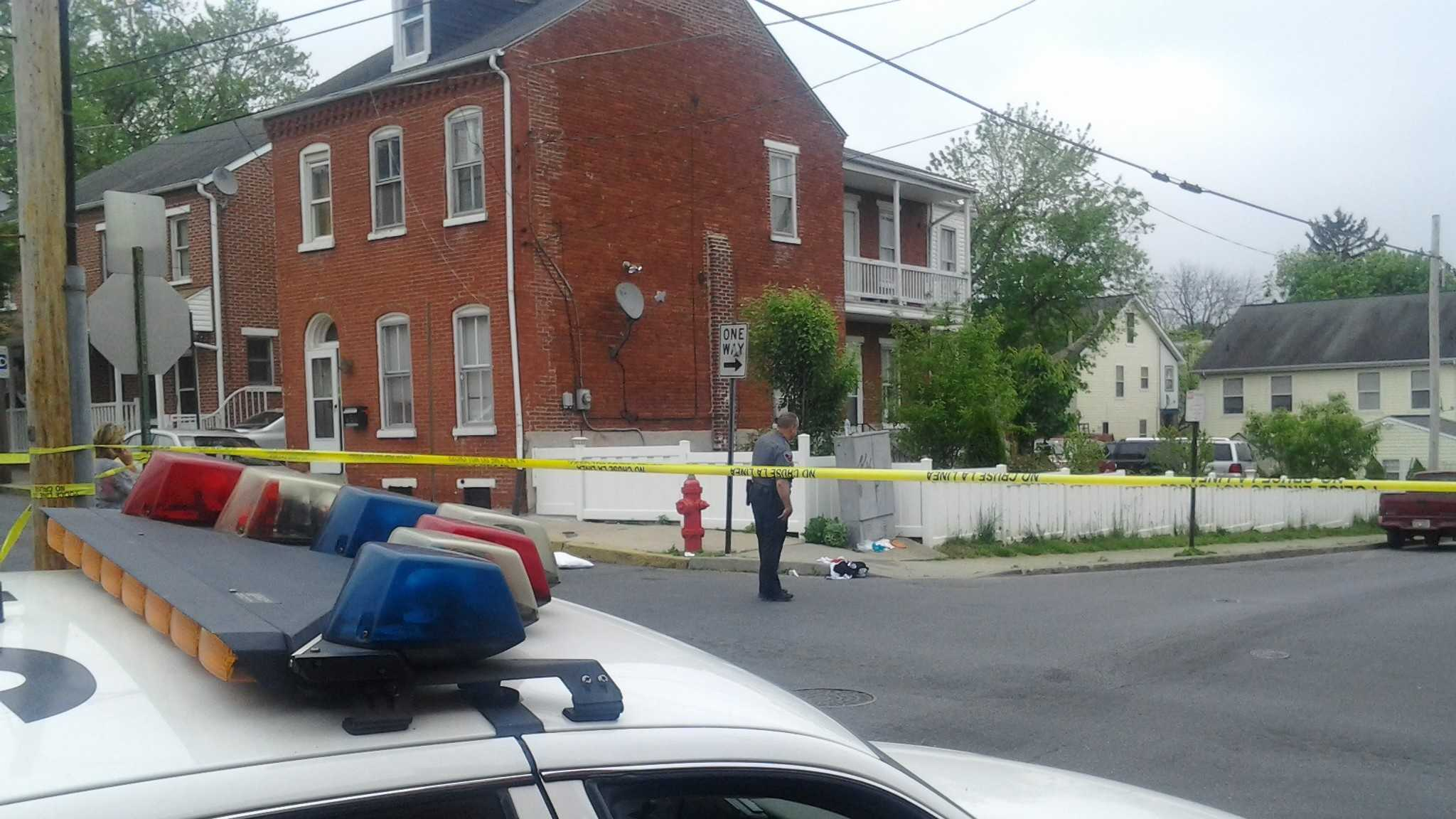 Police respond to calls of a shootout in Lancaster City.