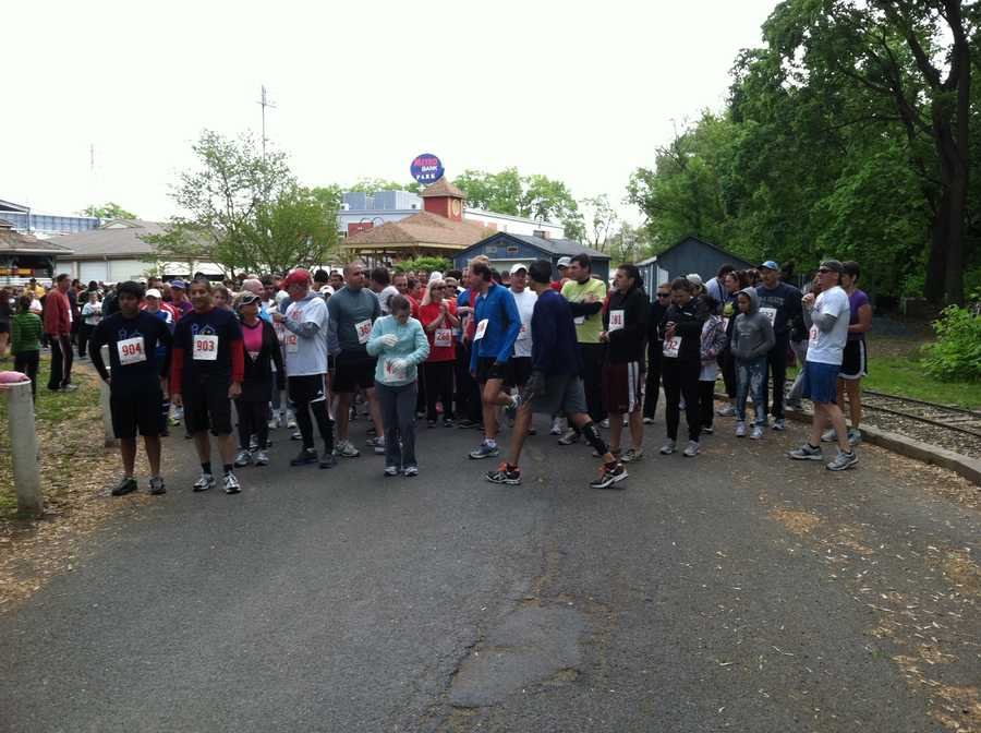 Runners getting in place for the start of the Harrisburg Race Against Racism.
