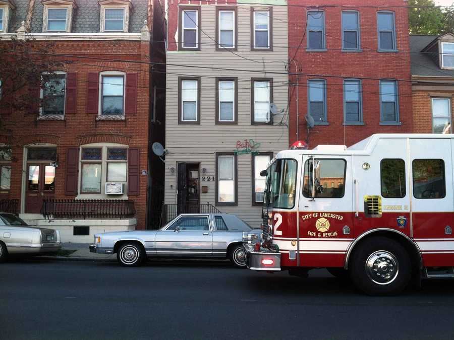Two people were treated at the scene for smoke inhalation after a stove fire in an apartment.