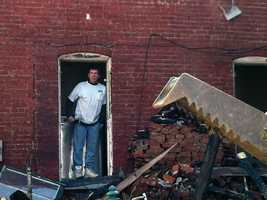 Crews in York are preparing three rowhomes in the 500 block of West Princess Street for demolition.