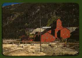 A mill at the Camp Bird Mine in Ouray County, Colorado. Russell Lee took this image in October 1940.