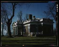 Monticello, home of Thomas Jefferson in Charlottesville, Va. John Collier took this photo in April 1943.