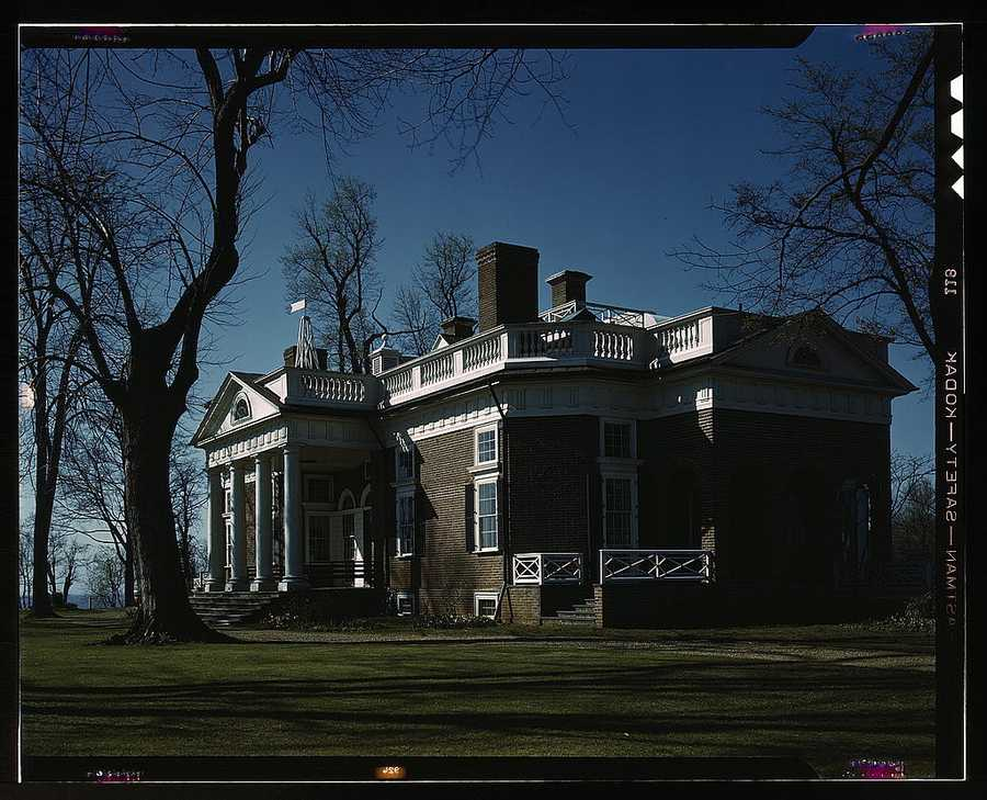Monticello, home of Thomas Jefferson in Charlottesville, Va. John Collier took this photo in April 1943.