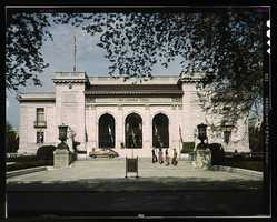 Front view of the Pan American Union in Washington, D.C. John Collier took this photo in May 1943.