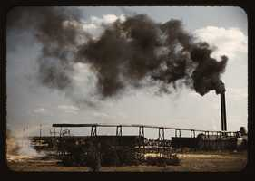 Sawmill at the Greensboro Lumber Co. in Greensboro, Ga. Jack Delano took this photo in June 1941.